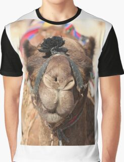 Close-up portrait of a camel, Negev, Israel Graphic T-Shirt