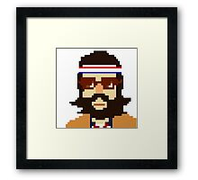First Hipster - Awesome 8 bit design Framed Print