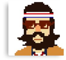 First Hipster - Awesome 8 bit design Canvas Print