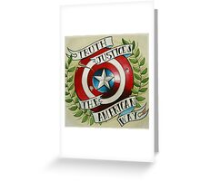 Truth & Justice Greeting Card