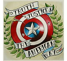 Truth & Justice Photographic Print