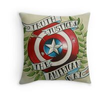 Truth & Justice Throw Pillow