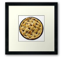 Apple pie isolated on white Framed Print