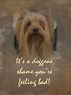 Sorry You're Sick Greeting Card - Cute Doggie by MotherNature