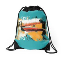 tropical toucan Drawstring Bag