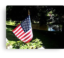 Stars and Stripes at Ringwood Manor, 4th of July Canvas Print