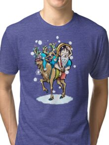 A One Piece Holiday Tri-blend T-Shirt