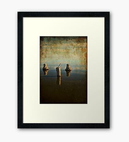 Glass Poles Layer Framed Print