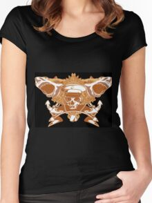 Sharks and skull Women's Fitted Scoop T-Shirt
