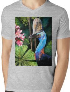 Southern Cassowary  (Hung.. Mall Gallery London) Mens V-Neck T-Shirt