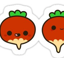 Cute radishes Sticker