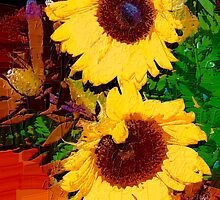 Sunflower arrangement by ♥⊱ B. Randi Bailey