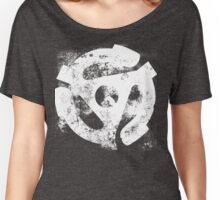 45 RPM Adaptor Distressed Art Women's Relaxed Fit T-Shirt
