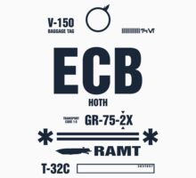 Rebel Echo Base ECB, Hoth Luggage Tag by Crocktees