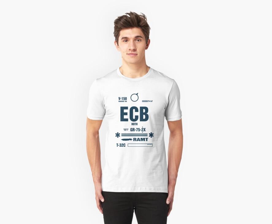 Rebel Echo Base ECB, Hoth Luggage Tag by Crocktees