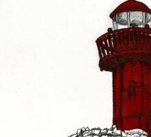 Figueira da Foz - Red Lighthouse Sticker