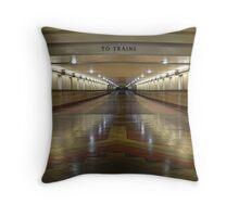 To the Trains Throw Pillow