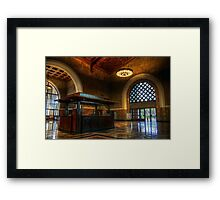 Union Station Info Framed Print