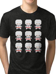 Mekkachibi Ninja Army (White) Tri-blend T-Shirt