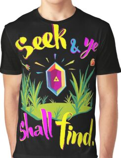 Legend of Zelda Seek and Ye Shall Find Graphic T-Shirt