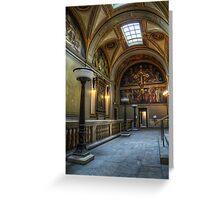 Boston Library Hall Greeting Card