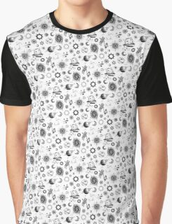 Space Exploration Pattern Graphic T-Shirt