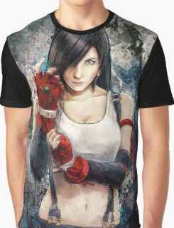 Tifa Lockhart FF7 Portrait Graphic T-Shirt