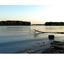 Mississippi River - Godfrey, IL Photographic Print