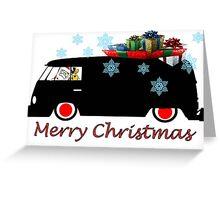 Santa s new Transporter Greeting Card
