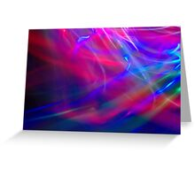 Abstract Light Painting Greeting Card