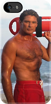 David Hasselhoff Baywatch iPhone case by Jnhamilt