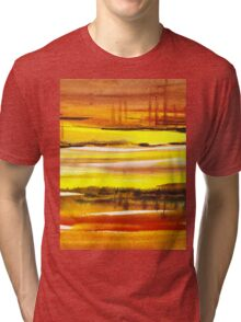 Reflections Abstract Landscape  Tri-blend T-Shirt