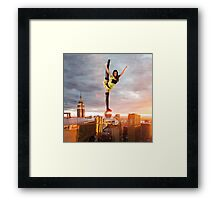 Death Defying Framed Print