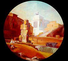 Roma,  teatro Marcello  ruins. by giorgiusmiron