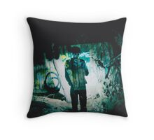 'What happened to it?' LOMO Photo, Montrose, Victoria, Australia,  Double Exposure Throw Pillow