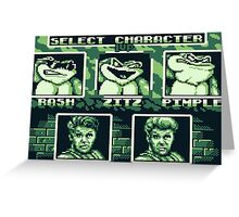 Battletoads - Select Character Greeting Card
