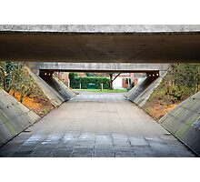 The underpass walk. Photographic Print