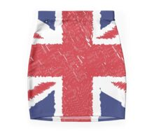 UK Union Jack Scribble Abstract Flag Background Pencil Skirt