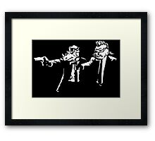 Bebop Rocksteady - Thug life - Pfiction mashup Framed Print