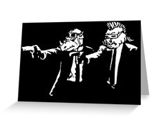 Bebop Rocksteady - Thug life - Pfiction mashup Greeting Card