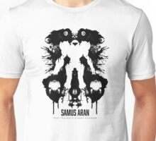 Samus Aran Metroid Geek Ink Blot Test Unisex T-Shirt