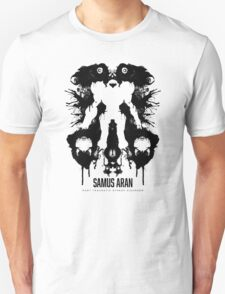 Samus Aran Metroid Geek Ink Blot Test T-Shirt