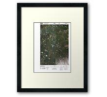 USGS Topo Map Washington State WA Green Mountain 20110506 TM Framed Print
