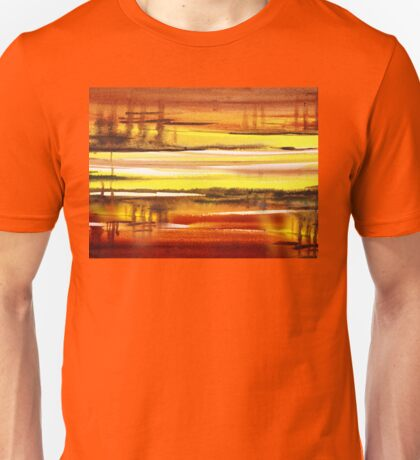 Warm Reflections Abstract Landscape Unisex T-Shirt