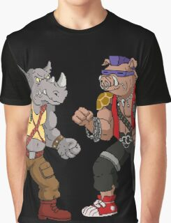 Bebop Rocksteady - Funny big print Graphic T-Shirt