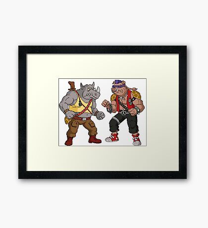 Bebop Rocksteady - Funny big print Framed Print