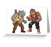 Bebop Rocksteady - Funny big print Greeting Card