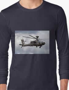 British Army Air Corps AugustaWestland WAH-64D AH.1 Helicopter Long Sleeve T-Shirt