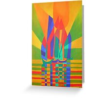 Dreamboat - Cubist Junk In Primary Colors Greeting Card