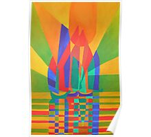 Dreamboat - Cubist Junk In Primary Colors Poster